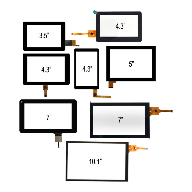 3.5'', 4.3'', 5'', 7'', 10.1'', 320x240 320x480 480x272 800x480 1024x600 1280x800 TFT LCD Display Capacitive Touch Screen Panel