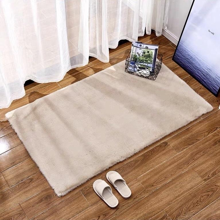 Household Modern Bedroom Soft Bedside Plush Fluffy Faux Fur Rug Carpets Mats