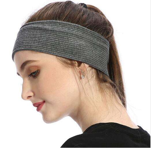 Women's Ribbed Headbands Multi Color Cotton Plain Flat Headband for Women Customized Autumn Winter Headwrap Black White