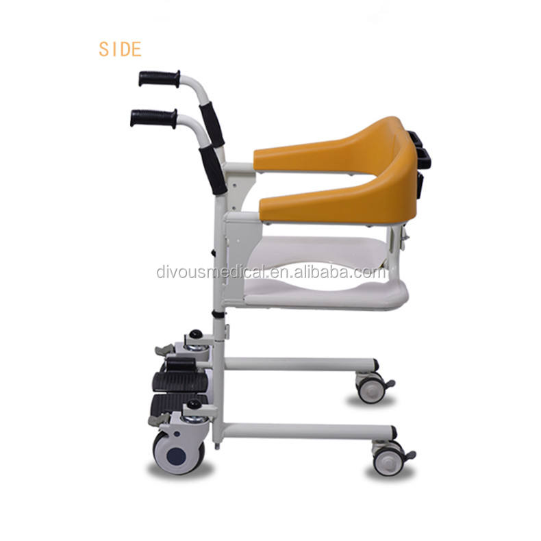 2019 New Generation Patient Transfer Lift Chair with Commode Shower Wheelchair for Handicapped Invalid Disabled