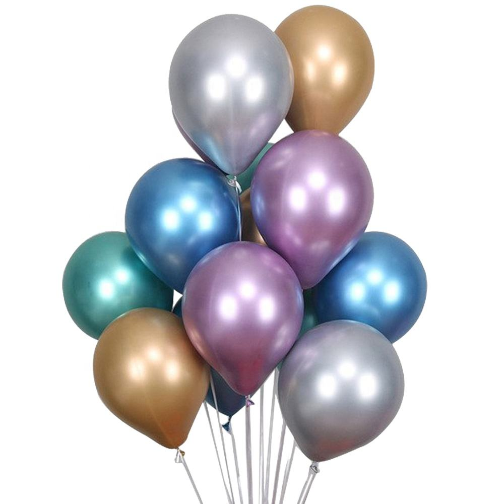 Giant Metallic Silver Gold Globos Ballons Inflatable Helium Latex Chrome Balloons