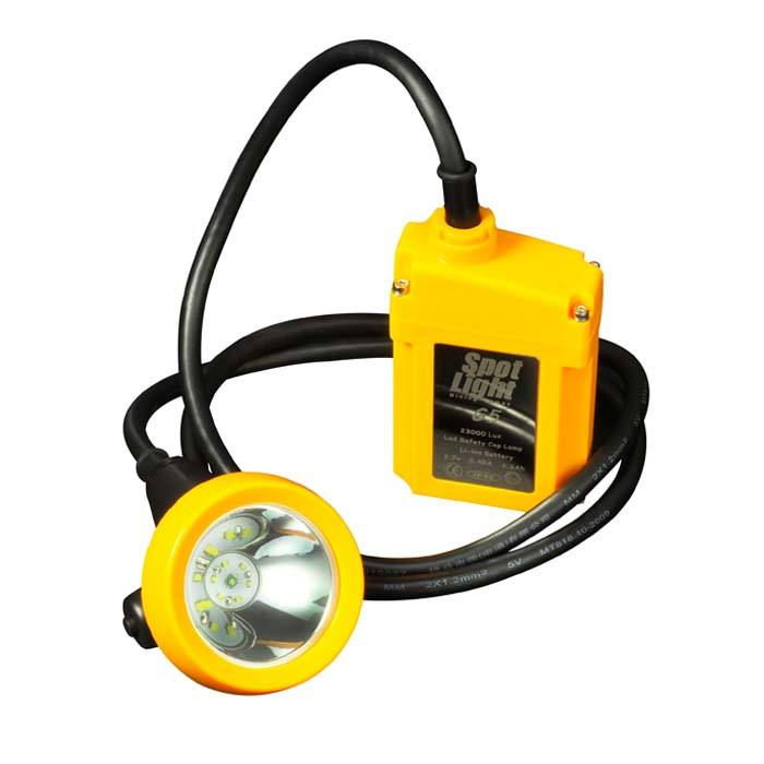 20000lux Pertambangan Helm Lampu Isi Ulang LED Coal Miner Light