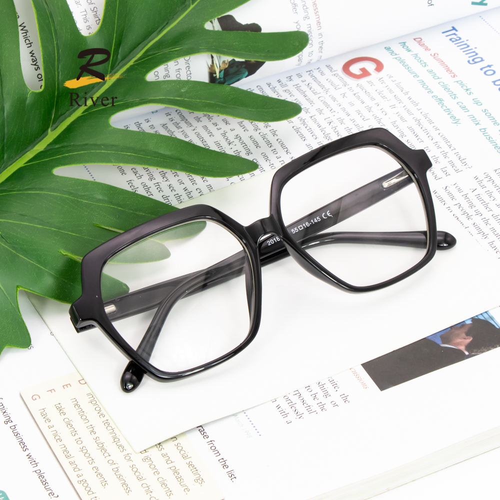 2020 Stock Ready Hexagon Men And Women Glasses Eyeglasses TR Optical Frame
