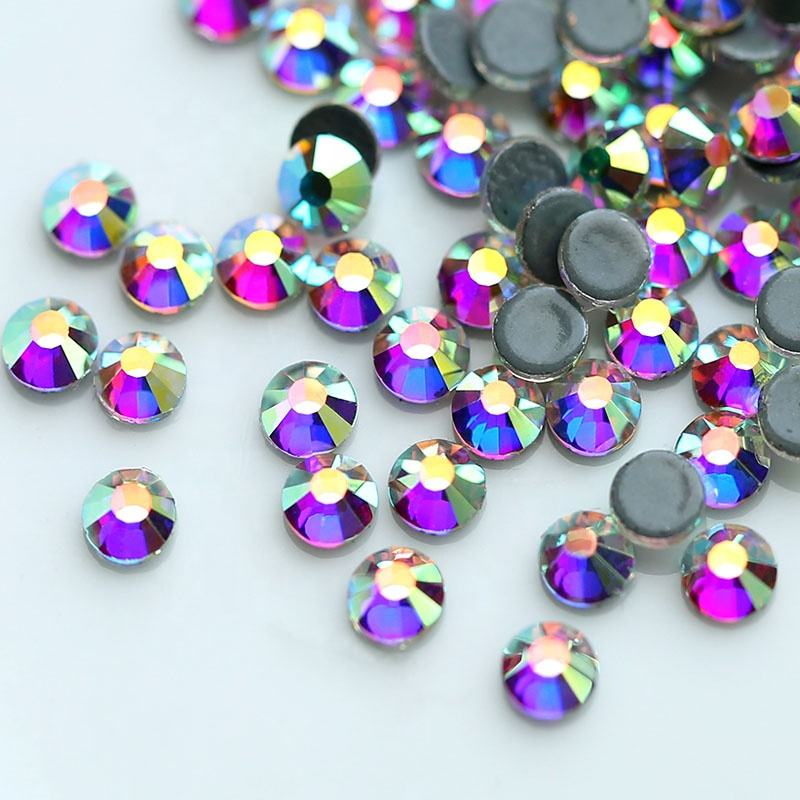 Flat Back Hot Fix Rhinestones Glass Beads Stone for Dresses Diy Trim Iron on Garment Accessories Rhinestone
