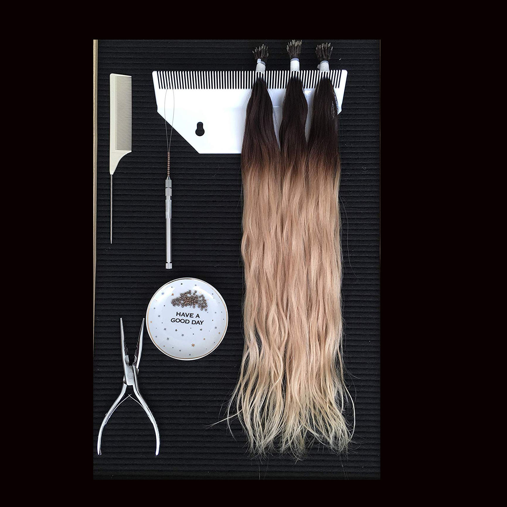 VONVIK Factory Directly Sell Hair Extension Display Stand Hair Extensions Holder Display Hair Extension Display Case