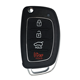 4 Button Flip Car Smart Key Cover Shell Fob For Hyundai Ix35 Santa Fe I30