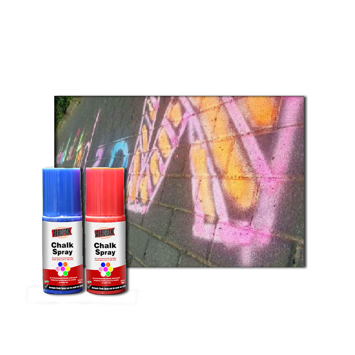 Wholesale eco-friendly handy kids playing chalk spray paint erasable
