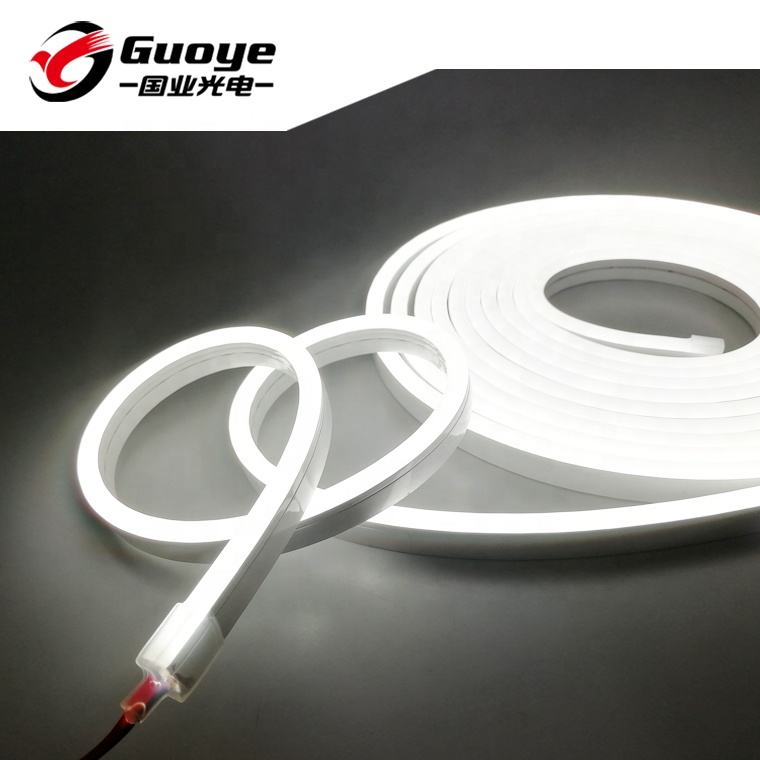 Manufacturer silicon led neon flex 6*13mm 5meter roll 12V 24V waterproof IP67 Flexible rope light decoration construction
