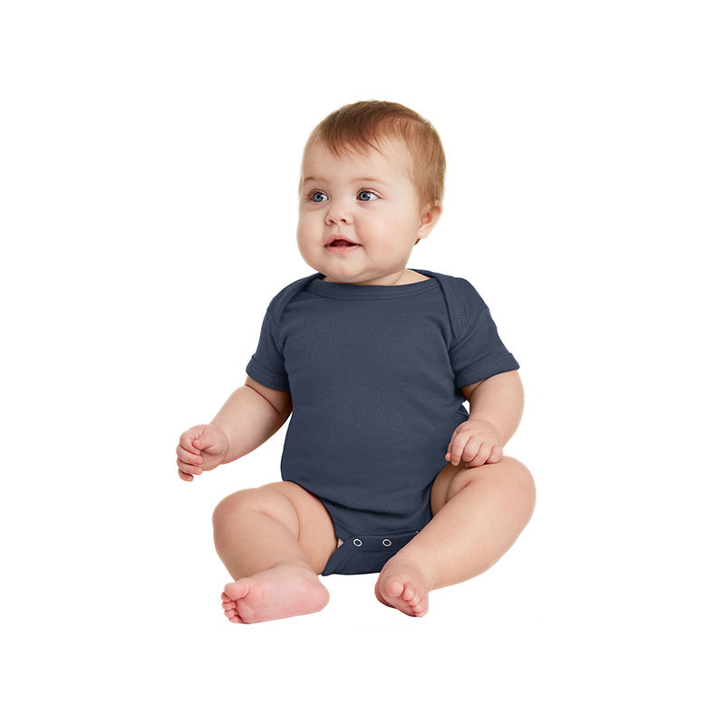 GOTS certification organic cotton newborn babies short sleeve rompers
