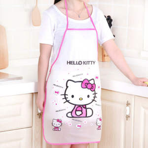 Custom Women Kids Cartoon Kitchen Restaurant PVC Waterproof Apron Cooking Aprons