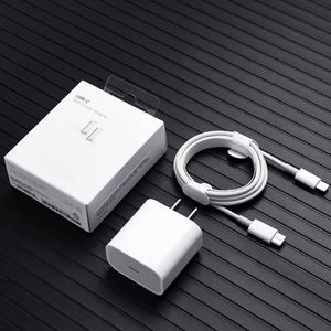 original 18w type c pd charger usb c power adapter qc 3.0 fast charging wall charger with cable for iphone 12 apple