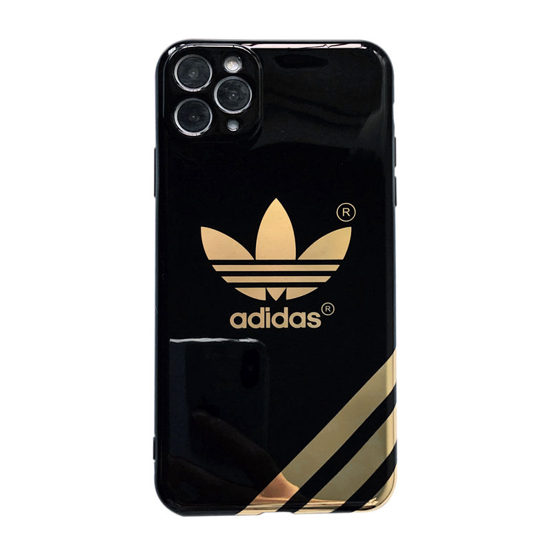 International tide brand Adidas bronzing Lens protection IMD Silicone Soft 2020 New Phone Case Cover For iphone 11 pro max