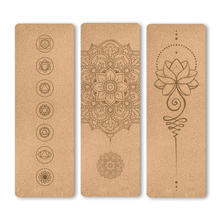 100% Eco Friendly organic custom Dropshipping 5mm natural Cork Yoga Mat