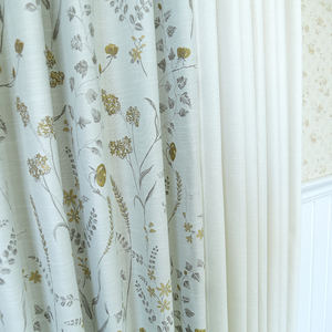 American style woven jacquard fabrics curtains for the living room luxury