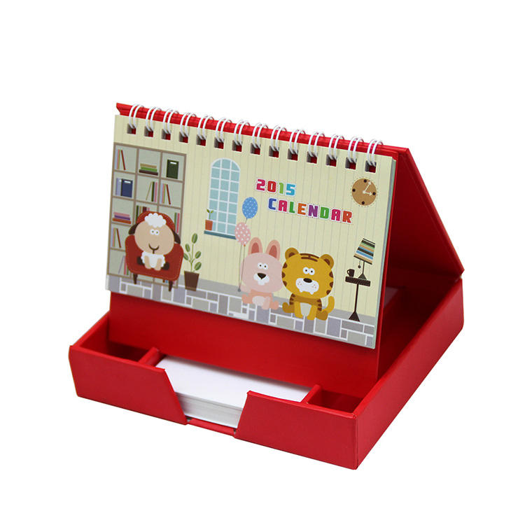 Custom colorful printing stand table year calendar wire-0 2021 calendar
