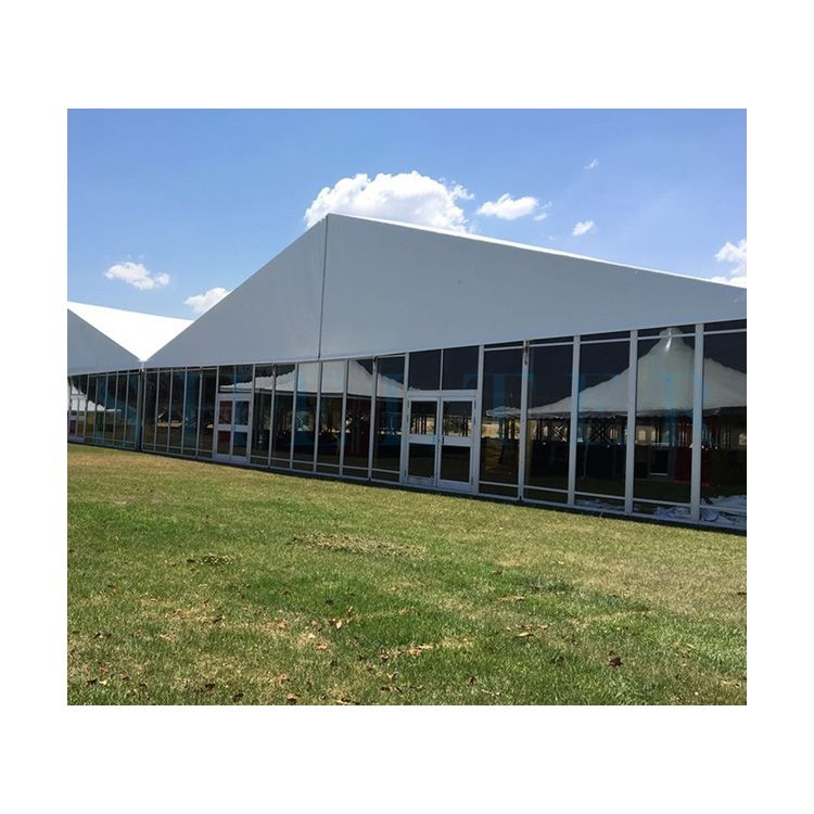 2000 Capacity Big Tent With Decoration Glass Wall Marquee in Aferica