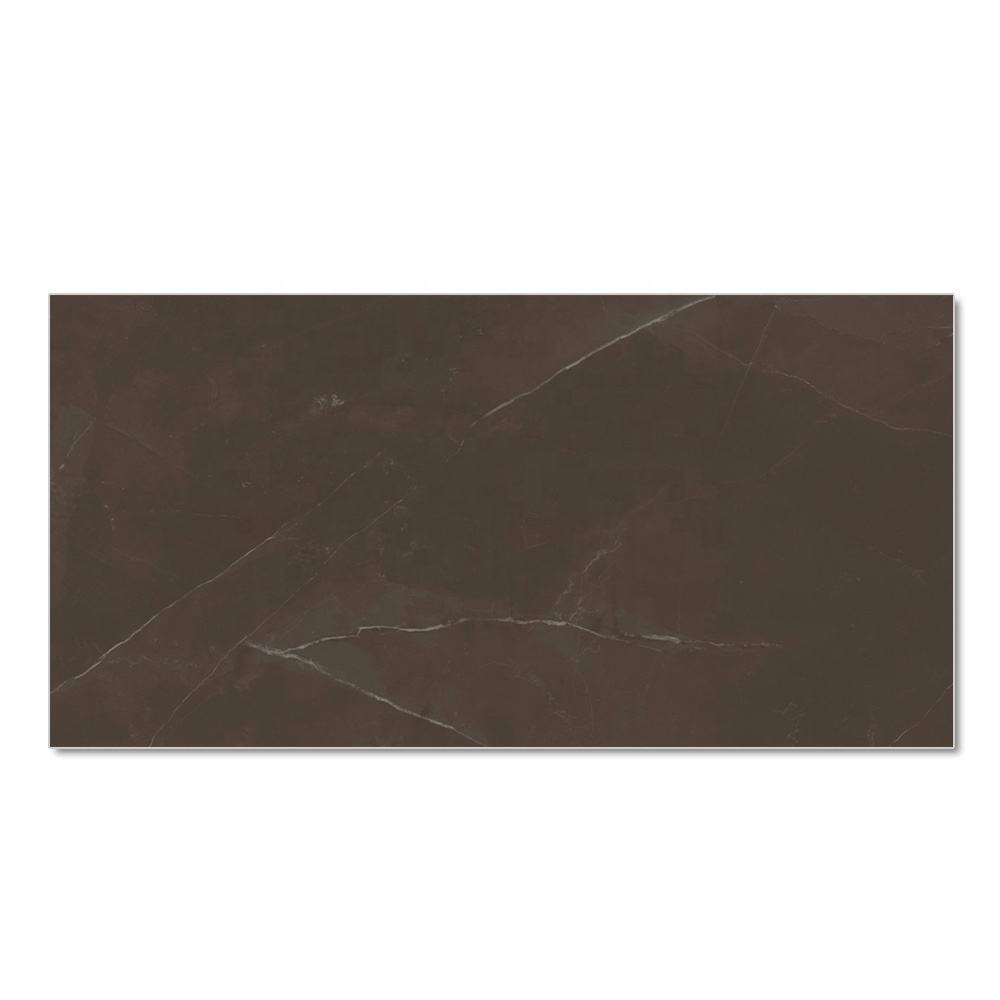 Italy new design large size 80x160 Non-slip Polished floor porcelain marble tiles chocolate color