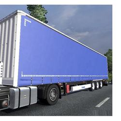 full printed utility trailer side curtain with full set of components