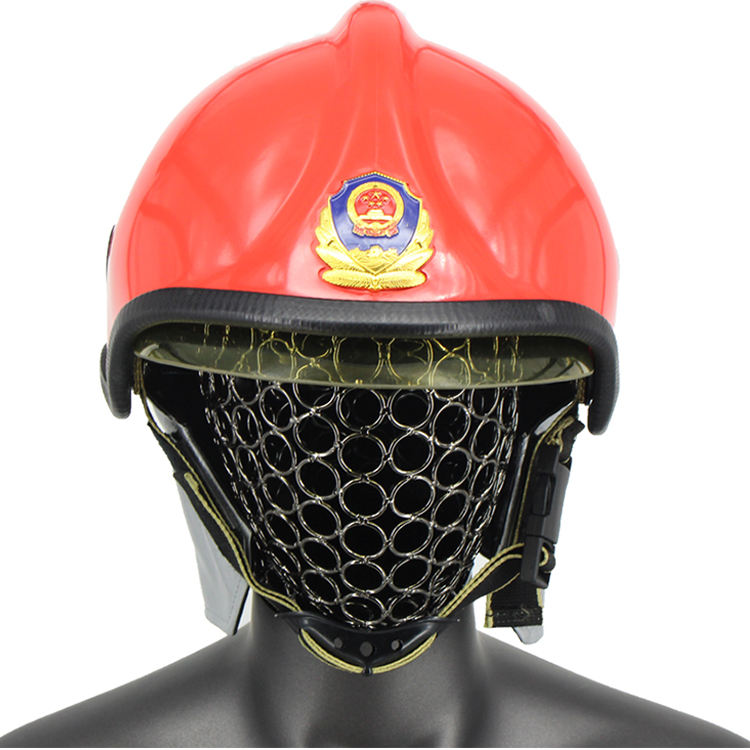 Heat Resistant Protective Safety Fireman Rescue Fire Fighting Helmet