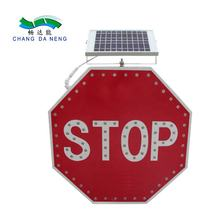 Road warning solar led traffic pedestrian arrow signal road aluminium directional sign board safety speed limit led stop signals