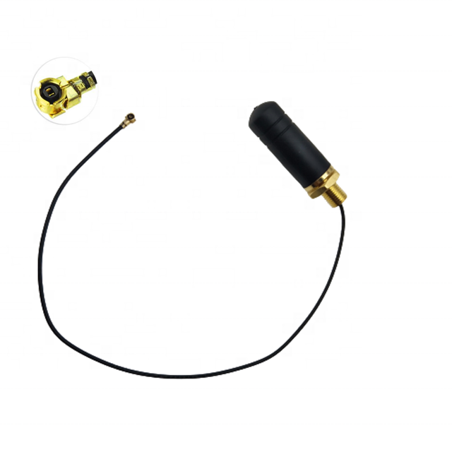 2.4GHz WLAN WiFi Bluetooth 21mm Small Stubby Communication Antenna With 0.81 Pigtail Cable and MHF4 Flying Leads