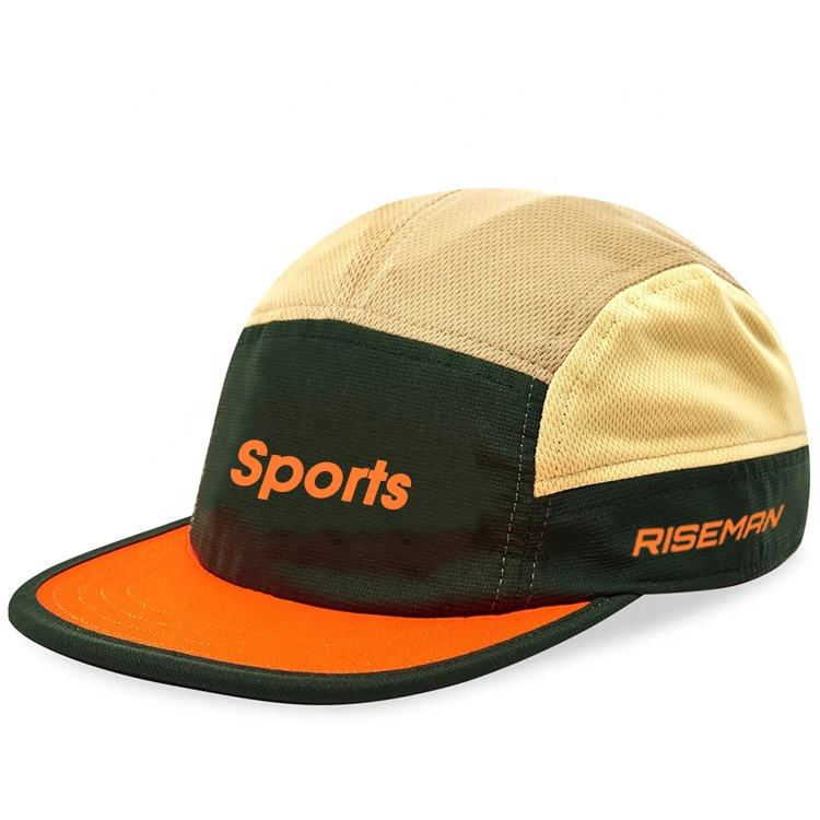 Lightweight And Breathable Sports Fast Drying Cap,Custom 5/7/8 Panel Polyester Running Cap Hat Small Order