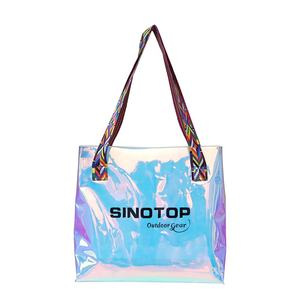 China Factory custom fashion colorful ladies waterproof pvc beach bag travel transparent jelly bag women handbags