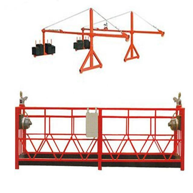 New Model Steel Wire Rope Suspended Working Scaffolding Platform Cradle