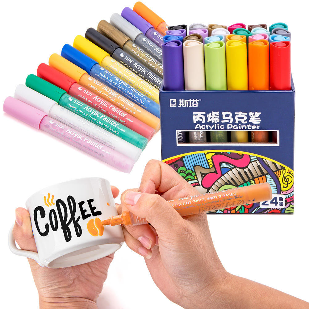 2mm chalk acrylic sta paint refillable 3d marker pen set