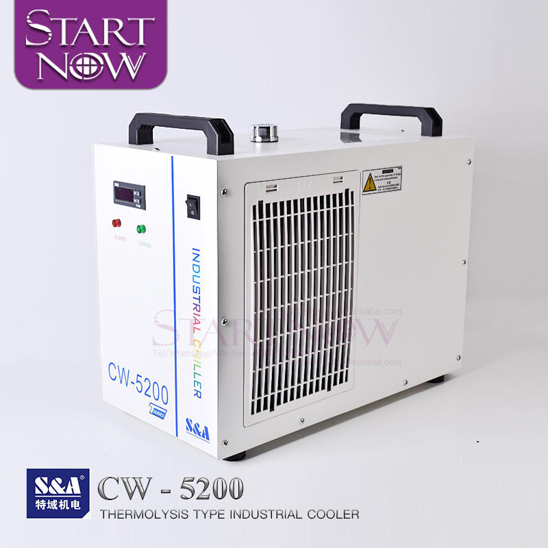 S & A CW5200 Series Chiller Air Industri CW5200AH CW5202TH 80W 150W CO2 Laser Tabung Perangkat untuk CNC Mesin Spindle
