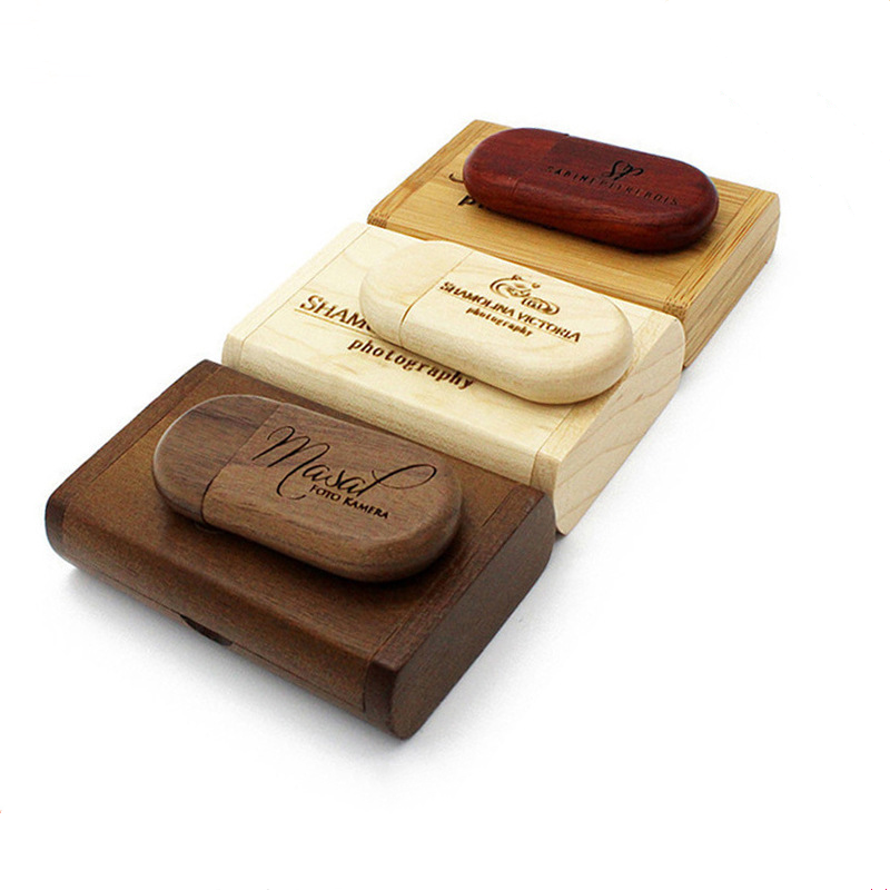 [Wooden USB stick] Factory Full Capacity Wooden Bamboo USB 3.0 Flash Drive Memoria Stick With Free Custom Logo Wood Box