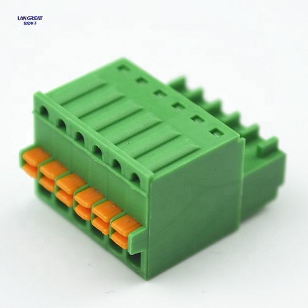 WJ15EDGKD PCB 180 degree 3.81mm electronic components plug-in terminal block