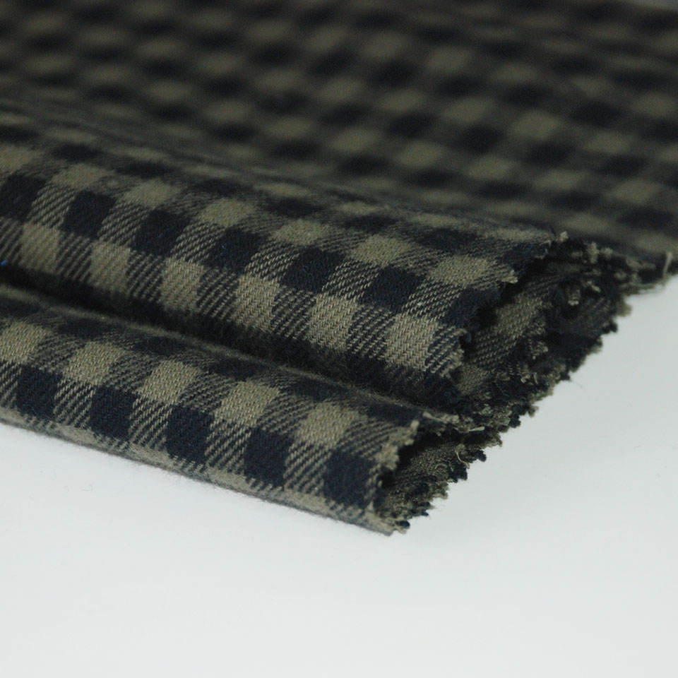 Good quality wholesale 100% cotton y/d check flannel fabric