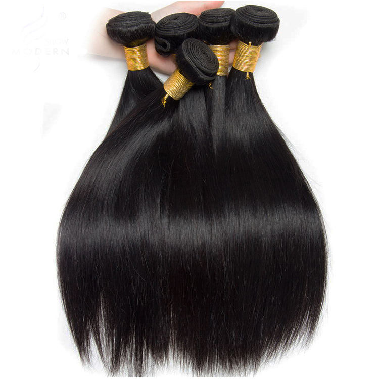 Mink Brazilian Straight Malaysian Hair Weave Bundles With Closure 8A And 9A, Wholesale Silky Straight Hair Extensions