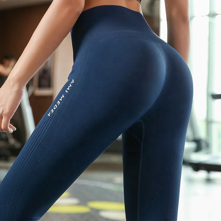 High Waisted Seamless Workout Nylon Spandex Leggings Activewear Yoga Pants Gym Leggings In Stock