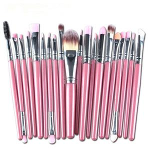 20 Pcs Make Up Sikat Logo Kustom Diamond Eye Shadow Makeup Brush Set