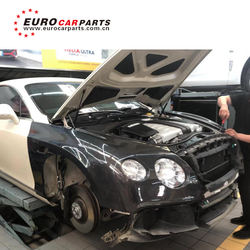 Btly  Continental GT old to new body kit with front bumper carbon finber fender ducts