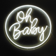 oh baby led neon sign