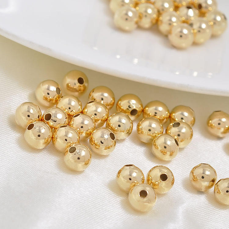 Factory Wholesale Jewelry 18K Gold Plated Copper Spacer Beads