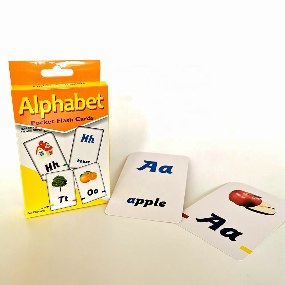 ready to ship educational alphabet paper flash cards printing for kids