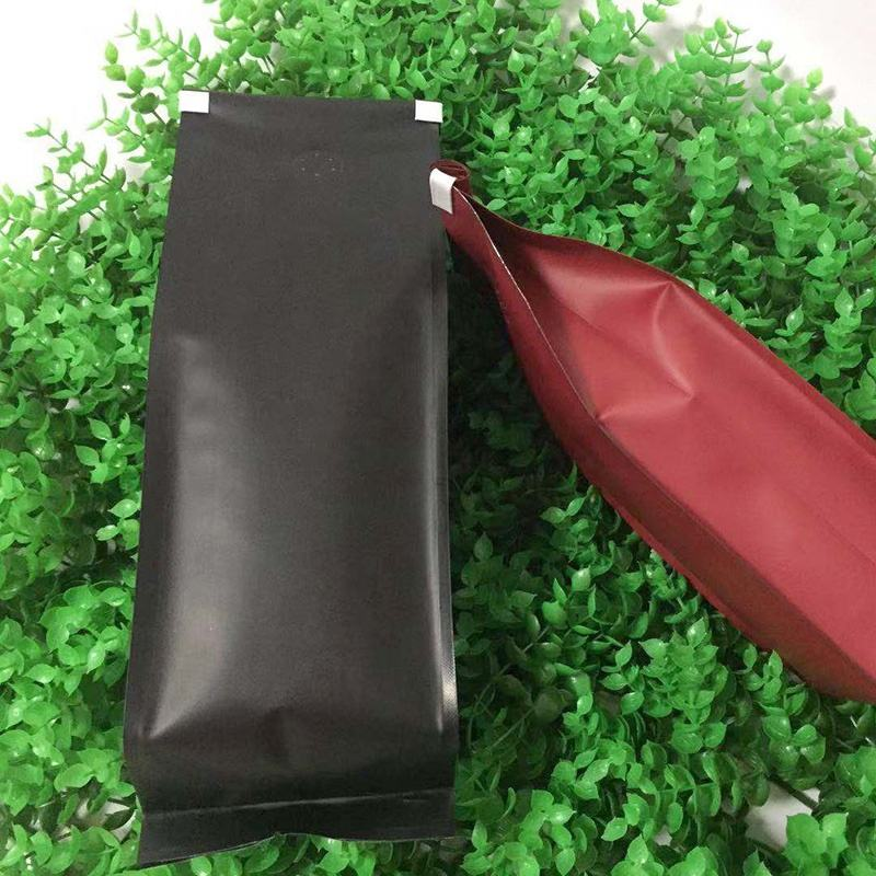 Stand up pouch bag for packing coffee/tea coffee bags indonesia valve zip 1kg packaging with valve 1set=100pcs
