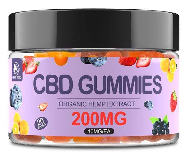 Organic Hemp Extract CBD Gummy Bear 10mg cbd for each