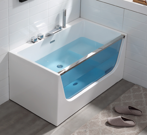 Woma Acrylic Baby Freestanding Bathtub with seat with glass (Q408)