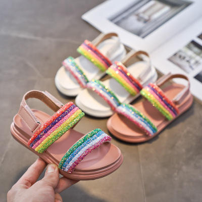 The Factory Sell Summer Sandals Rainbow Kids Children's Casual Shoes