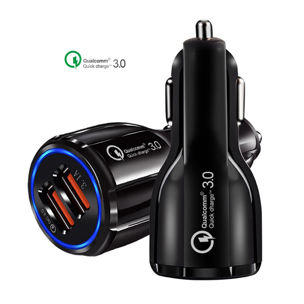 SIP[U 3.1A Portable Qualcomm Phone fast Charger 2 Port Usb Car Charger Quick Charge 3.0 Car Charger Dual usb