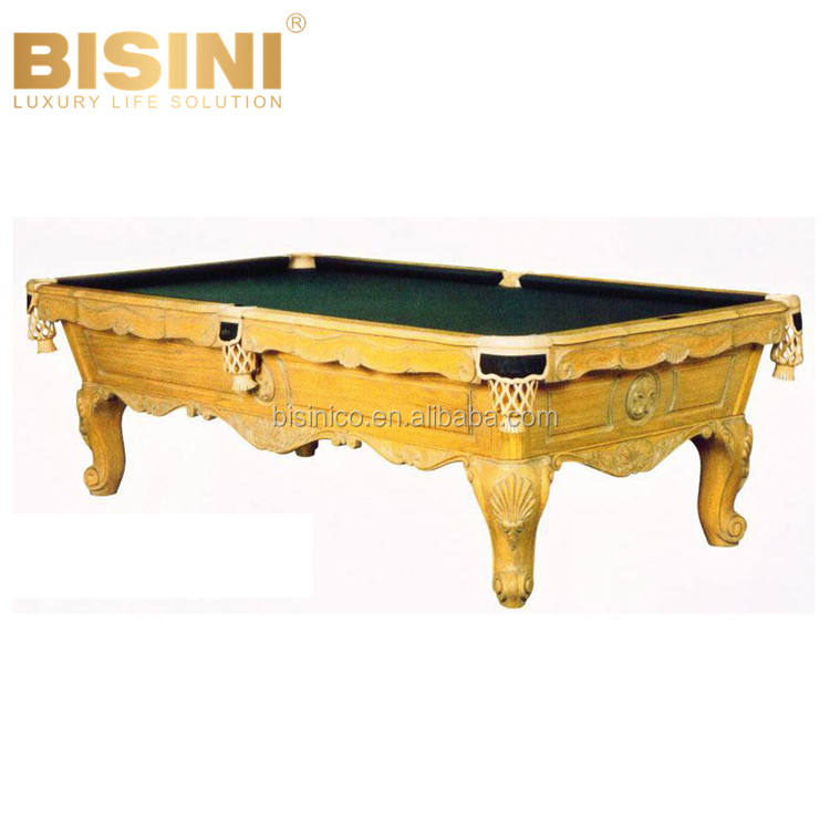 French Style Antique Solid Wood Pocket Billiards Table Retro Functional and Simple Pool Tables