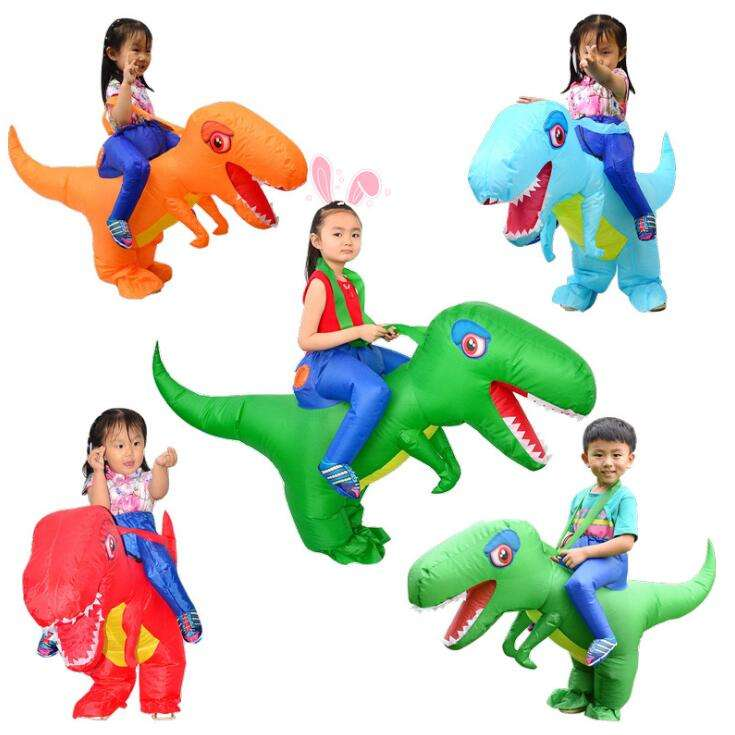 HUAYU New Design Inflatable Costume Children Kids Dinosaur T REX Costumes Blow Up Cospaly Ride On Animal Costume