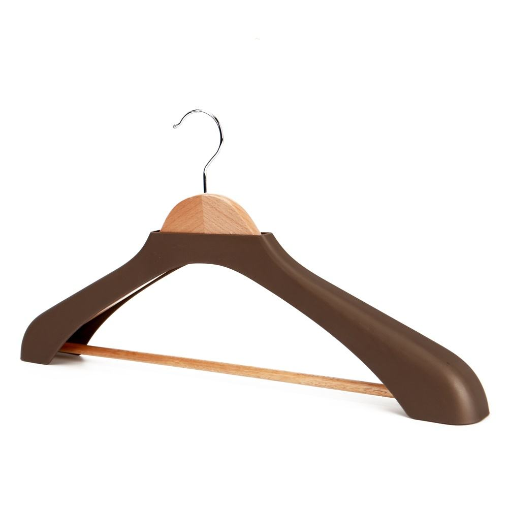 Eisho luxury wooden clothes hanger stand for coat