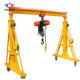 Simple gantry crane price rubber tired mini gantry crane