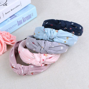 Hair Accessories printing flowers Cloth art Knotted Headbands for Long hair